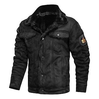 New Autumn Winter Lapel Large Men's Jacket Casual Fashion Motorcycle Loose