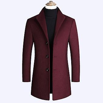 Syksyn/talven uusi solid color korkealaatuinen ylellinen villasekoitukset takki