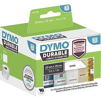 DYMO 2112286 Label roll 25 x 25 mm PE film White 1700 pc(s) Permanent All-purpose labels, Address labels