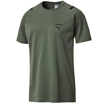 Puma Pace Tee Miesten Top Casual Training Juoksu T-paita Khaki 576392 23