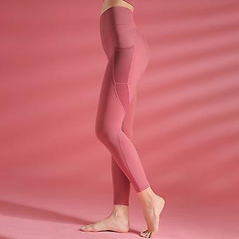 Women's pantalones de yoga de bolsillo hueco Q23
