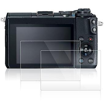 Afunta Bildschirmprotektoren für Canon eos m6, 2 Packung Anti-Kratz-gehärtetes Glas Schutzfolien für d