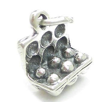 Box Of Eggs Sterling Silver Charm .925 X1 Hen Chickens Egg Charms Poultry - 4052