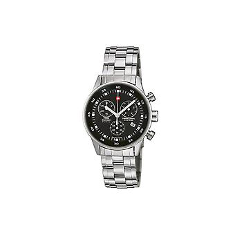 Reloj masculino militar suizo por Chrono SM34005.01, cuarzo, 36 mm, 5ATM