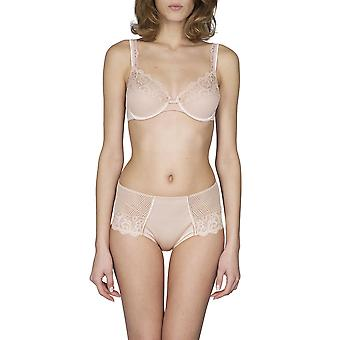 Maison LeJaby 13833-247 Women's Gaby Pink With Lace Underwired Non-Padded Plunge Bra