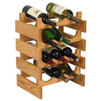 Martello di legno 12 bottiglia Dakota Wine Rack, Rovere Chiaro Wr34Lo