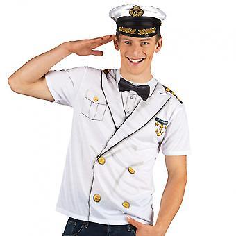 Shirt Captain Men's Polyester White Size M