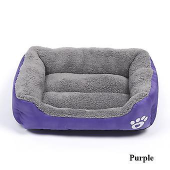 Pet Cat, Dog, Bed, Warm Cozy House, Soft Fleece Nest, Baskets Mat, Autumn,
