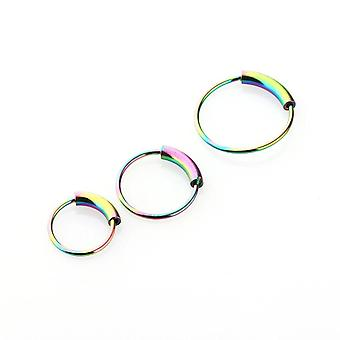 Hinged Clicker Circle Piercing Nose Ring