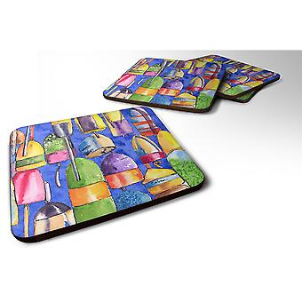 Caroline'S Treasures 8723-4Fc Lobster Bouys Foam Coasters (Set Of 4), 3.5 H X 3.5 W, Multicolor