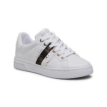 Women's Shoes Sneaker Guess Reel 4g White Logo Ds21gu25 Fl5reeele12
