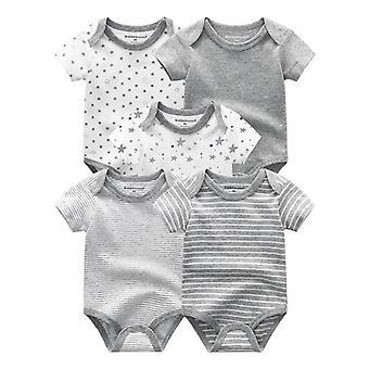 5kpl Puuvilla Print Vastasyntynyt Vauva Sarjakuva Roupas Bodysuits