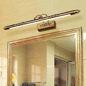 Rétro lampe miroir cosmétique 500mm 8w conduit maquillage européen lumière vanité de la salle de bains mur lumières bronze armoire décoration d'éclairage