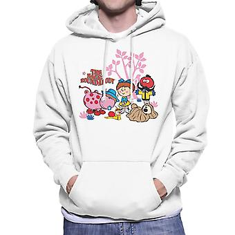 The Magic Roundabout Retro Cartoon Style Men's Hooded Sweatshirt