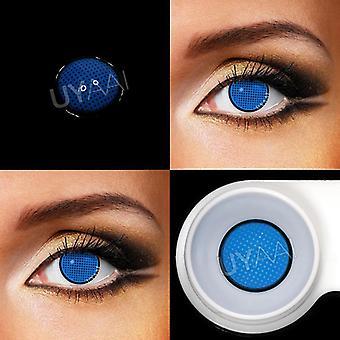 Moniväriset linssit Anime Cosplay Mesh Series Color Contact Blue Tarvikkeet