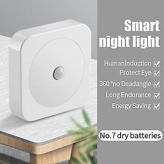 Led Night Light Mini Sensor Control Battery Charge Lamp Living Room Bedroom