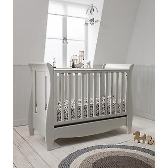Tutti Bambini Roma Space Saver Sleigh Cot Bed with Drawer - Linen