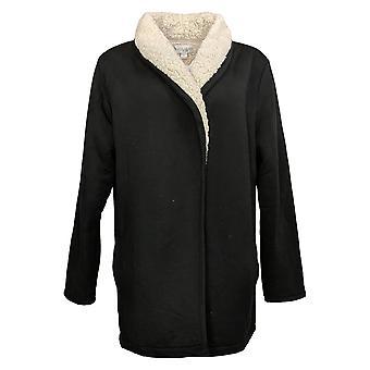 Koolaburra by UGG Women's Sweater Cardigan w/ Sherpa Lining Blk A386405