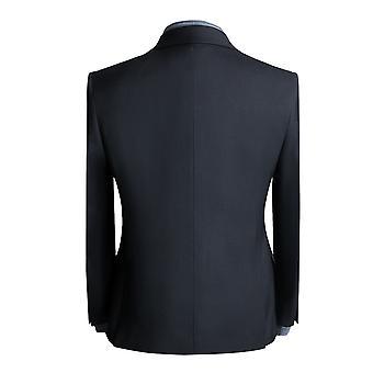 Allthemen Men's Boutique Pistol Collar, Two-button Suit, 3-piece Suit, Business Jacket & Trousers & Vest