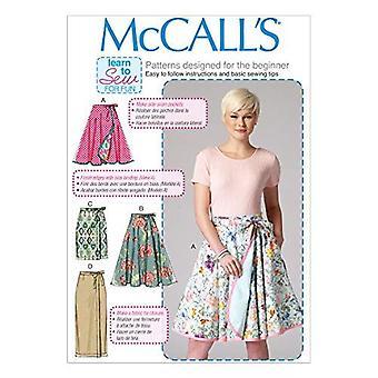 McCalls Schnittmuster 7129 Misses Röcke Seite Taschen Größe 16-24 ungeschnitten