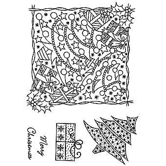 Personal Impressions Parcel and Tree Montage Clear Stamp