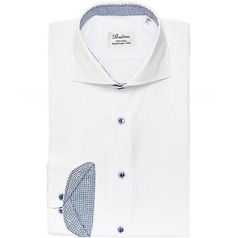 Stenstroms Fitted Body Dot Trim Shirt