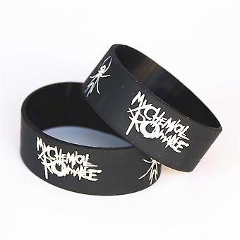 1pc Silicone Wristband Rubber Power Men Bracelet