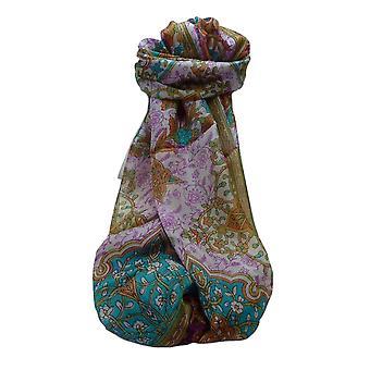 Mulberry Silk Tradițional Long Eșarfă Kareena Maroon de Pashmina & Silk