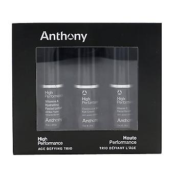 Anthony High Performance Age Trotsande Trio Set: Vitamin C Facial Serum 15ml +Vitamin A Facial Lotion 15ml + Eye Cream 15ml 3x15ml/0.5oz