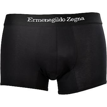 Ermenegildo Zegna Estiramiento Algodón Boxeador Tronco, Negro