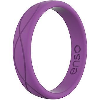 Enso krúžky ženy ' s Infinity Series silikónový prsteň-slivka