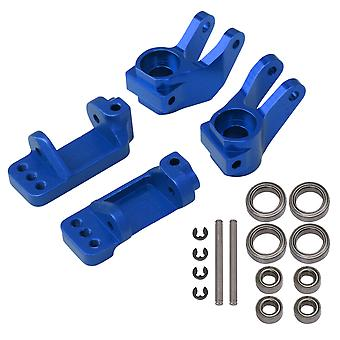 4Pieces RC1:10 Caster Steering Block Replacement for Traxxas Navy Blue