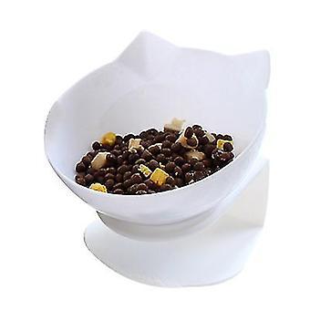 Single white non-slip food bowl with stand cat dog water bowl detachable pet feeding az8851