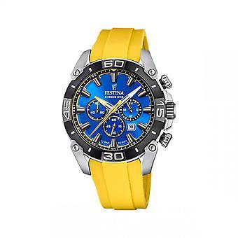 Mænds Watch Festina ure CHRONOBIKE - F20544-4 Armbånd R sine Gul