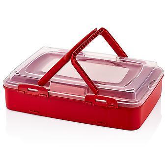 Herzberg enkelnivå hämtmat bakverk låda röd