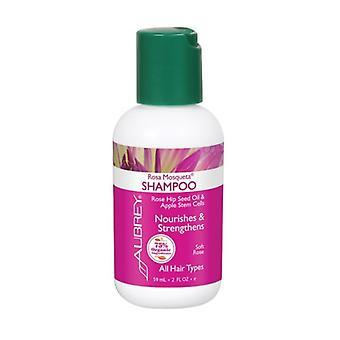 Aubrey Organics Rosa Mosqueta Shampoo, Rose 2 Oz