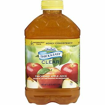 Hormel Thickened Beverage Thick & Easy 46 oz. Container Bottle Apple Juice Flavor Ready to USe Honey Consi, 1 Each