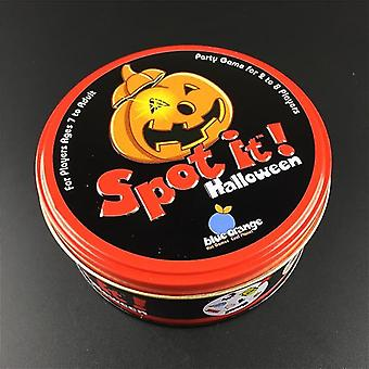 new halloween(box) halloween dobbles spot it hip hop english version board game metal tin sm37825