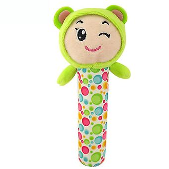 Tiger Cartoon Lovely Baby Hand Grab Plush Soft Bell Rattle Stick For Infant 0-1