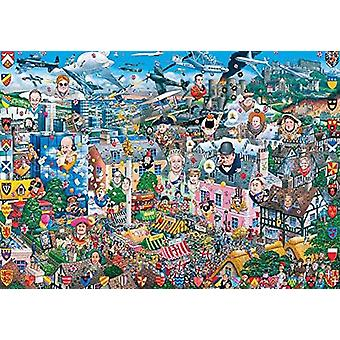 Gibsons I Love Great Britain Jigsaw Puzzle (1000 Pièces)