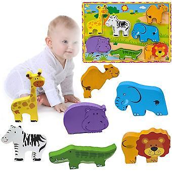 Kinder 3D Tier Holzpuzzle Spiel,Lernspielzeug Geschenk für Baby Kinder Jungen Mädchen