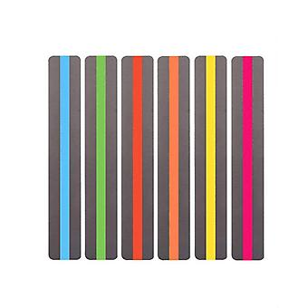 6pcs Reading Guide Highlighter Strips Colored Overlays Colorful Bookmarks Tracking Rulers Helps with