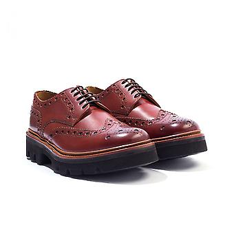 Grenson Archie Ultralight Leather Brogue Shoes - Tan