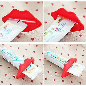 Lip Design Toothpaste Tube Squeezer - Multi Purpose Extrusion Device For Gels