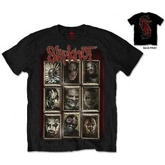 Slipknot New Masks Hombre Blk Camiseta: XXL