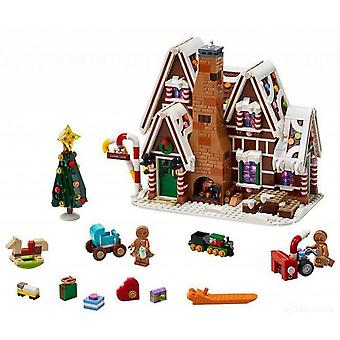 Compatible con J78001 Gingerbread House Christmas Series 10267 Girl Puzzle Assembled Building Block Toy Lp20005