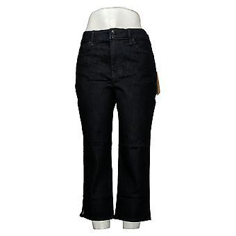 NYDJ Femme Cool Embrace Skinny Crop w / Side Slits Bleu A377693