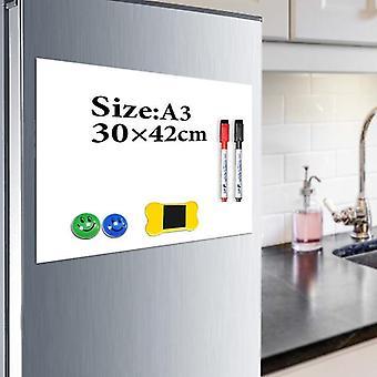 Kuivan tyhjennyslevyt 1kpl magneettijääkaapin jääkaapin luonnoslehtiön piirustustaulu