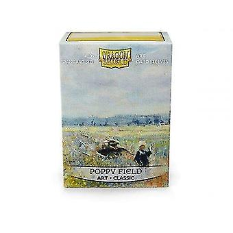 Video game consoles dragon shield art classic - poppy field - 100 deck sleeves