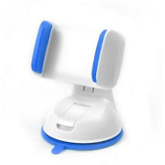 Soporte universal para teléfono móvil en el automóvil Tablero de instrumentos Montaje de succión del parabrisas (blanco + azul)
